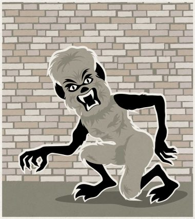 Werwolf Halloween Monster Illustration