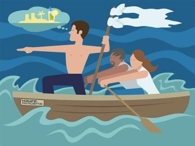Editorial Illustration für die Haufe Akademie im Vektor Stil